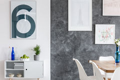 Contrast colored walls Stock Photo