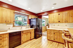 Contrast colors kitchen room Stock Photography