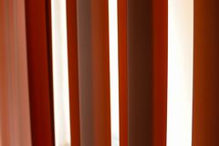 Contrast curtains in a school. During a warm Spring day in Moscow royalty free stock photo