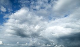 Contrast dramatic cloudy sky. The sky with thunder clouds royalty free stock image
