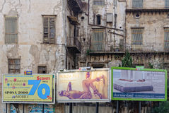 Contrast en Consumentisme - Palermo Royalty-vrije Stock Foto's