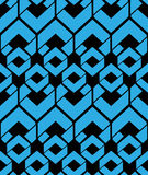Contrast endless vector texture with blue geometric figures, mot Royalty Free Stock Photos