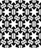 Contrast geometric seamless pattern, symmetric Stock Photos