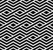 Contrast geometric seamless pattern with symmetric ornament. Rho. Mbus graphic contemporary background. Splice black and white infinite backdrop Royalty Free Stock Image