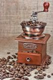 Vintage coffee mill Royalty Free Stock Photos