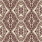 Contrast Lacy Seamless Tribal Pattern Stock Foto's