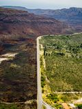 Contrast of landscape burned after fire. Chapada Diamantina fires drama stock images