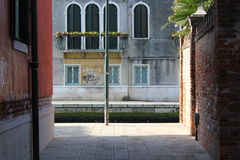 Contrast of light in Venice Italy Stock Photography
