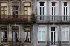 Contrast. Between the new and old building Royalty Free Stock Image