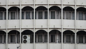 Contrast in an old building. Taken at Bangkok, Thailand Royalty Free Stock Photography
