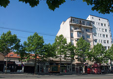 Contrast of old and contemporary architecture in Belgrade downtown, Serbia Stock Photos