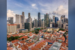 Contrast of old and new architecture - Singapore Royalty Free Stock Photography