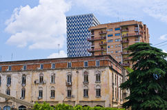 Contrast between old and new buildings Royalty Free Stock Image