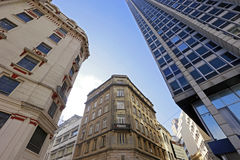The contrast of old and new in the urban landscape Royalty Free Stock Photos