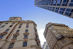 The contrast of old and new in the urban landscape Royalty Free Stock Image