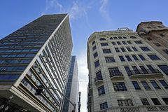 The contrast of old and new in the urban landscape Royalty Free Stock Photography