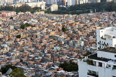 Contrast of poverty and wealth in Brazil Royalty Free Stock Image