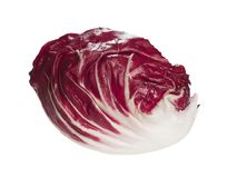 Contrast Radicchio salad from side on white background. High resolution phoro Stock Image