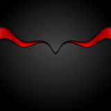 Contrast red black abstract waves background. Contrast red black abstract smooth waves background. Vector graphic design royalty free illustration