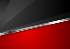 Contrast red and black background with metallic stripe. Contrast red and black corporate background with metallic stripe. Vector illustration royalty free illustration