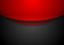 Contrast red and black wavy corporate background Royalty Free Stock Photos