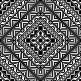 Contrast Seamless Pattern. Seamless geometric pattern in black and white. Abstract symmetric pattern. Tribal background ornament Stock Photography