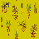Contrast seamless pattern with Growing Vegetables Royalty Free Stock Photo