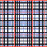 Contrast seamless tartan rectangular texture. Seamless rectangular vector pattern as a tartan plaid mainly in pink, blue and light grey colors vector illustration