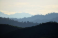 Contrast Series III. A beautiful view of the hills in contrast Royalty Free Stock Photography