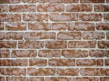 Contrast brick wall. Contrast and sharp illustration of wall made of old beaten red bricks. Good for background royalty free stock photography
