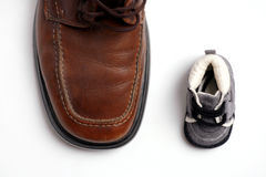 Contrast shoes Royalty Free Stock Photo