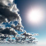 Contrast Sun and Cloudy Royalty Free Stock Photos