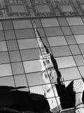 Contrast van moderne en historische architectuur Stock Foto's