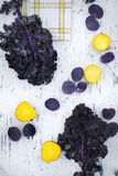 Contrast Vegetables Royalty Free Stock Photo