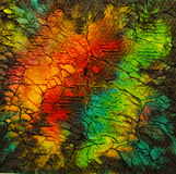 Contrast and vibrant abstract painting Stock Photography