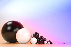 ContrastBalls01 Royalty Free Stock Photo