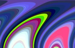 Contraste as linhas fluidas, cores, linhas fundo, contrastes macios da mistura, gráficos abstratos Fundo e textura abstratos ilustração do vetor