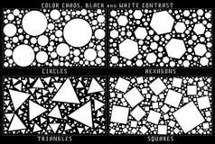 Contraste blanco y negro de las jugadas preparadas fotografía de archivo libre de regalías