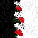 Contraste de fleurs Images libres de droits
