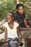 Contraste haitiano foto de archivo