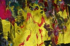 Contrastes borrosos de oro rojos, fondo creativo de la pintura cerosa Foto de archivo libre de regalías