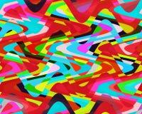 Contrastes, cores, geometria abstratas vívidas brilhantes das ondas, textura vívida abstrata ilustração do vetor