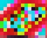 Contrastes, cores, geometria abstratas vívidas brilhantes dos quadrados, textura vívida abstrata ilustração do vetor