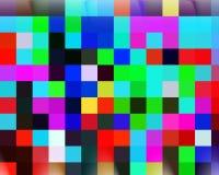 Contrastes, cores, geometria abstratas vívidas quadradas, textura vívida abstrata ilustração do vetor