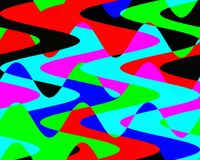 Contrastes, cores, geometria abstratas vívidas, textura vívida abstrata ilustração stock