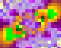 Contrastes, geometria abstratas vívidas dos quadrados do amarelo do volet, textura vívida abstrata ilustração royalty free