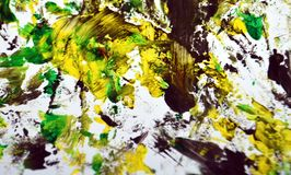 Contrastes jaunes gris noirs, fond d'aquarelle de peinture, fond de peinture abstrait d'aquarelle image stock