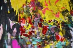 Contrastes oscuros de oro azules rosados negros púrpuras, fondo creativo de la pintura cerosa fotografía de archivo