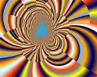 Contrastes, textura azul amarela do fractal do espaço do amor da flor, fundo abstrato ilustração do vetor