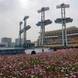 Contrastes urbanos, China de viagem fotografia de stock